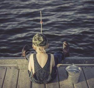 Does Global Affiliate Zone Work-Image 2 on Post of Boy Sitting on Dock Fishing