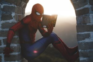 How To Become A Polymath - image 5 of Spiderman reading a book from a tower window