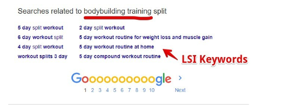 What Does Low Hanging Fruit mean - screenshot for LSI Keywords on Google SERP