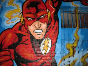 What Is A Niche Blog- image 4 of a action hero painted on a wall
